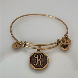 Alex and Ani Gold K Bracelet